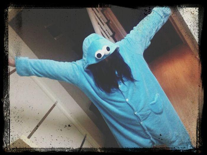 Onesie fun! Cookie monster