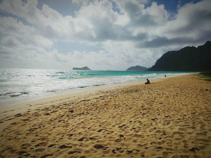 Find your zen! Waimanalo Beach Taking Photos Turqouise Water Golden Sands Morning Walk Morning Glow Oahu, Hawaii Landscape