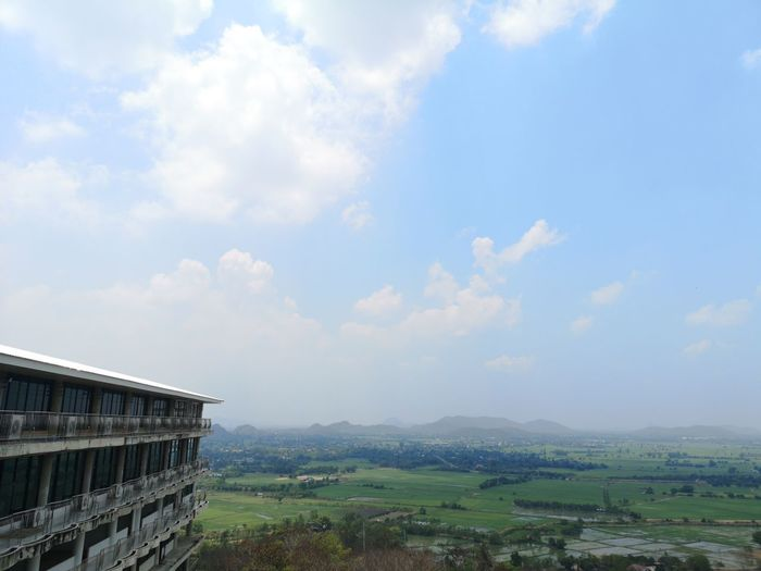 Scenic view of buildings against sky