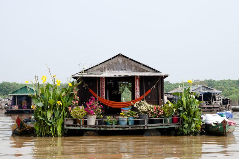 Floating House - Tonle Sap Lake - Cambodia Cambodia Tonle Sap Boat Built Structure Floating House House Lake Stilt Tonle Sap Lake