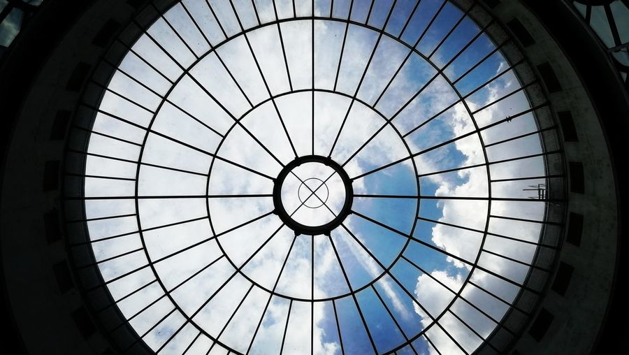 Architecture City Sky Architectural Detail LINE Circle Skylight Architectural Design Cupola Geometric Shape Built Structure Architectural Feature Directly Below Concentric Architecture And Art The Architect - 2018 EyeEm Awards The Street Photographer - 2018 EyeEm Awards Indoors  Pattern No People Shape Ceiling The Mobile Photographer - 2019 EyeEm Awards