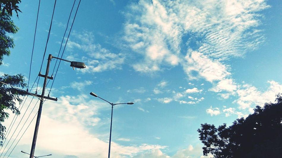 The sky in a clear blue afternoon Taking Photos First Eyeem Photo