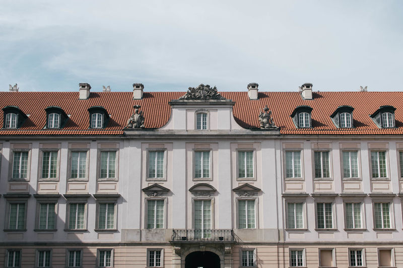 Architecture Building Exterior Built Structure City Day Low Angle View No People Outdoors Poland Sky Warsaw Window
