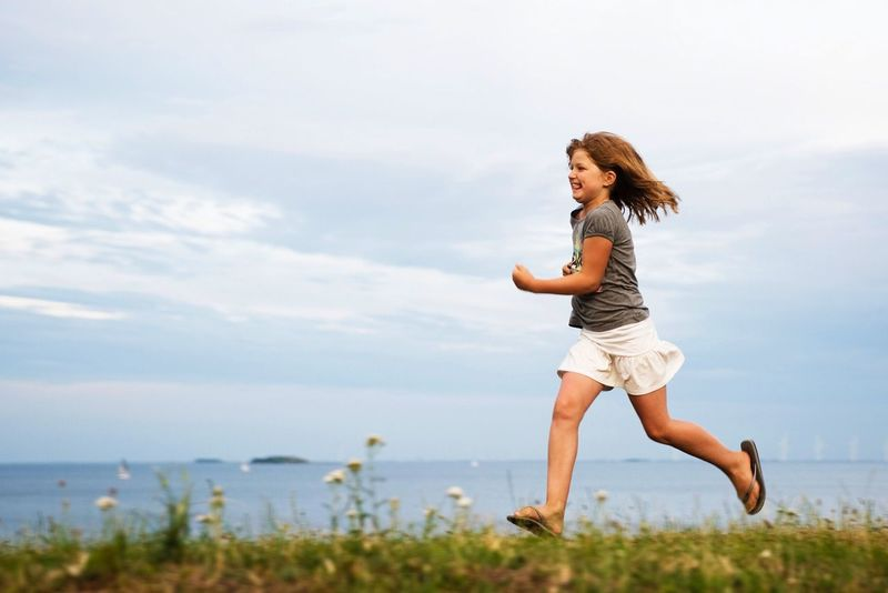 Running... One Person Happiness Young Adult Motion Joy Leisure Activity Nikon Girl Running Running Free Outdoors Sea