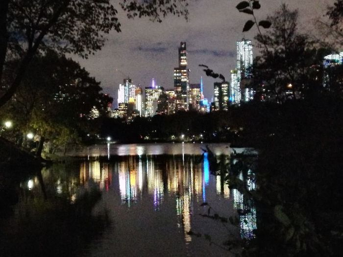 NOFILTERPLEASE Huaweip10litephotography Nofilter Central Park NYC Night Illuminated
