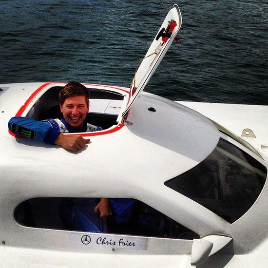 Chaz Mostert climbs out of Australian title winning Team Navy offshore powerboat Fpr Ford V8sc Dunlop Dvs Ran Navy Australian Sydney