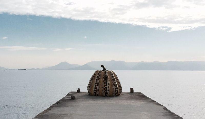 Sea Tranquil Scene Art Pumpkin Yayoi Kusama Japan