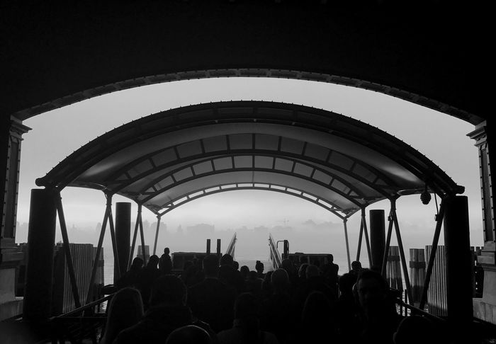 Architecture Arch Large Group Of People Sky Outdoors Day Crowd Blackandwhite TheMinimals (less Edit Juxt Photography) Ferry