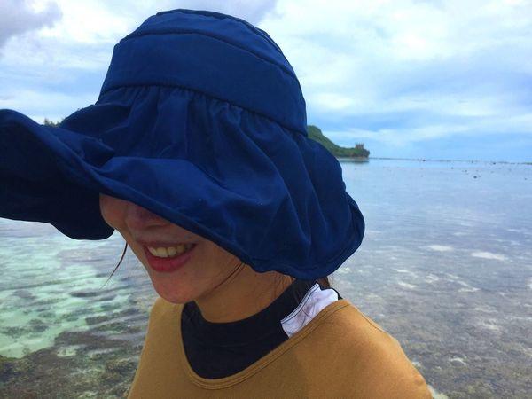 Woman Smile Sea Guam Traveling Close-up Human Face
