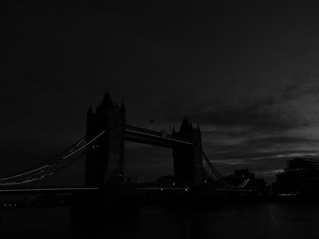 Tower Bridge, Neon lights and a B&W effect = best Halloween place to find on a trip Tower Bridge  City Architecture Neon Lights Halloween 2017 Travel Destinations B&w London England 🇬🇧 Outdoors Illuminated Tourism River No People Cultures Travel Connection
