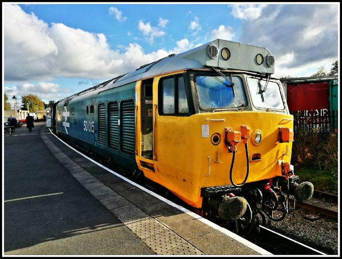 Class 50 Hoover Transportation Sky Travel Train - Vehicle Railroad Track Outdoors Travel Destinations Rail Transportation Public Transportation Cloud - Sky No People Day Horizontal