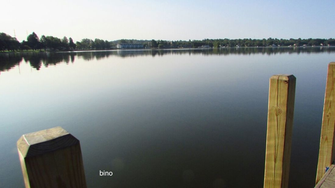 Early Morning Walk... At The Lake From The Pier Different Perspective Stillness Calm Waters Lake Cadillac Pure Michigan