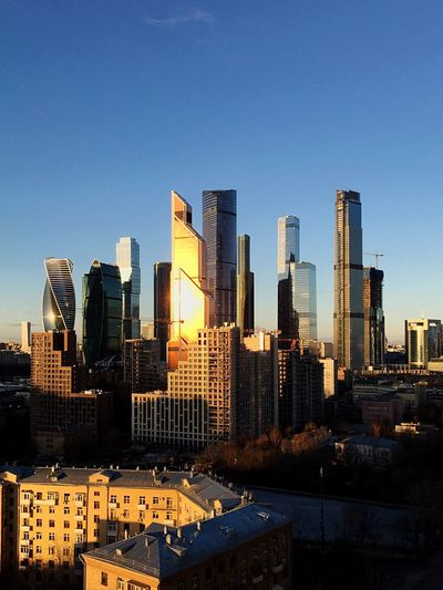 Moscow City Building Exterior Architecture Built Structure Sky Office Building Exterior Building City Skyscraper Cityscape Urban Skyline Landscape Modern Tall - High Office No People