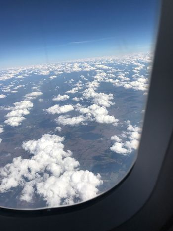 Aerial View Nature Airplane Cloud - Sky Flying Sky Travel Cloudscape Beauty In Nature Scenics Transportation Window Landscape Day Journey No People Air Vehicle Outdoors Airplane Wing Flying High