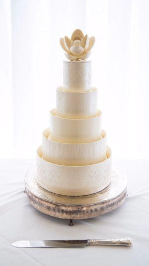 Wedding Day Wedding Cake My Wedding Cake No People Indoors  Stack Close-up Day