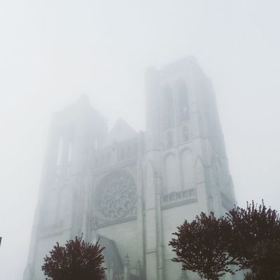 Ghostly Grace Cathedral Church Colour Your Horizn Ghost Grace Cathedral Quiet Moments San Francisco, California Architecture Fog Low Angle View Street Photography Tranquil Scene Urbanphotography