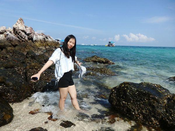 Sea Sky And Clouds Sky เกาะล้าน หาดตายาย ทะเล ไทยเที่ยวไทย ไทยแลนด์ Thailand