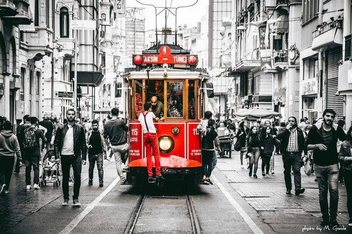 Person Architecture Men Building Exterior Large Group Of People Built Structure City Walking Full Length City Life City Street In Front Of Outdoors Red Crowd Retail  Taksim Taksimbeyoglu Taksim Meydanı