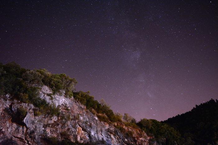 Rock Rochas Mountain Montanhas Serra Montagne Roche Star Stars Etoiles Vialactea Estrelas Sky Nightphotography Nightsky Ceu Noturno Astronomy Galaxy Space Milky Way Tree Star - Space Constellation Star Field Space Exploration Silhouette