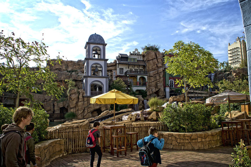 Amusementpark Architecture Building Exterior Built Structure City City Life Façade Footpath Freizeitpark HDR In Front Of Nature Outdoors Person Phantasialand Place Of Worship Pretty Sky