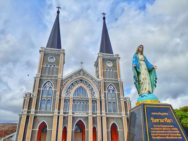 City Statue Place Of Worship Politics And Government Religion History Ornate Façade Gothic Style Sky