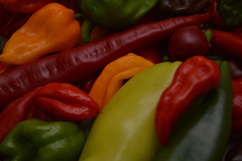 Full frame shot of bell peppers