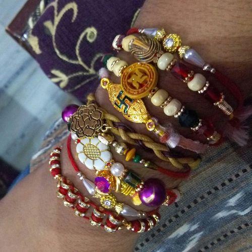 Indian Festival Rakhi Rakshabandhan Loveit♥ hand full of rakhi