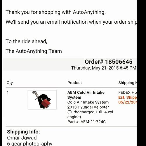 It has been done! Finalllllyy my baby will be breathing in beast mode! @kloreski lol finally bought it Aemintakes Coldair Horsepower Gains hyundai veloster velosterturbo kdm boosted dailydriven turbo tuner import boooyahhhh