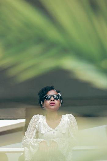 Idea: The spying feel Teenager Fresh EyeEm Best Shots EyeEm Gallery EyeEm Best Edits Portrait Futuristic Looking At Camera Beautiful Woman Beauty Human Face Fashion Sunglasses Pretty Thoughtful