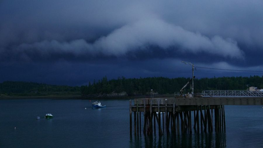 Maine Water Cloud - Sky Sky Nautical Vessel Storm Transportation No People Storm Cloud Nature Scenics - Nature Overcast Environment Beauty In Nature Night Sailboat