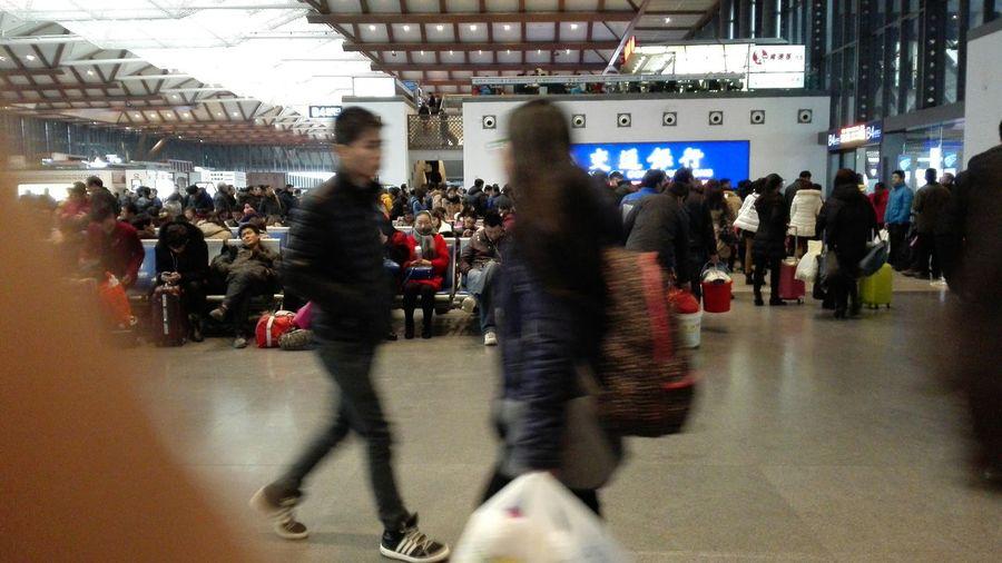 在苏州火车站里 In The Railway Station In SuzhouFrom my huawei ascend mate7