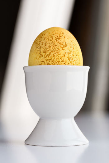 Egg Dyed using Turmeric Food Food And Drink Close-up No People Eggcup Egg Dyed Easter Natural Organic Turmeric  Holiday Ingredient Yellow Isolated Nobody Macro