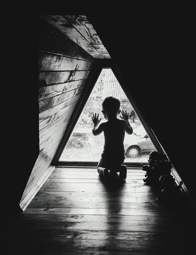 Child at the attic ребенок чердак Locked Lonely Child Attic One Person Real People Child Silhouette Childhood Lifestyles Full Length EyeEmNewHere