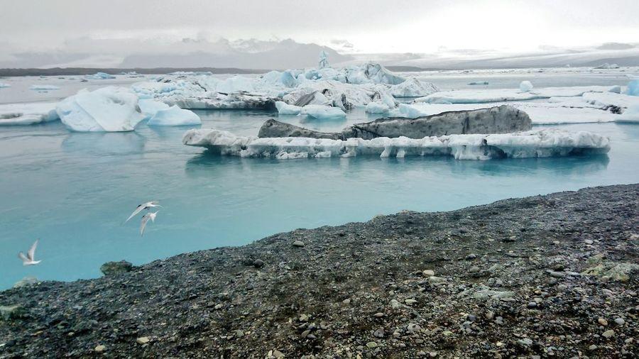 Scenic View Of Glaciers In Jokulsarlon