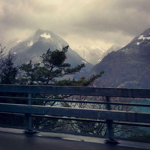 Swiss Alps Lake View Mountains Uri