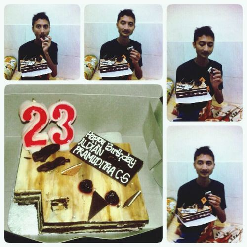 Thx sayang buat kue nya . Love you