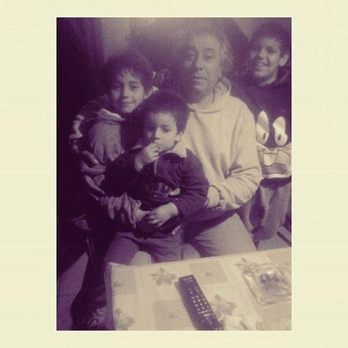 Mi papá y mis hermosos sobrinos! 😘. Felizcumplepapá !, Teamotanto ❤ .