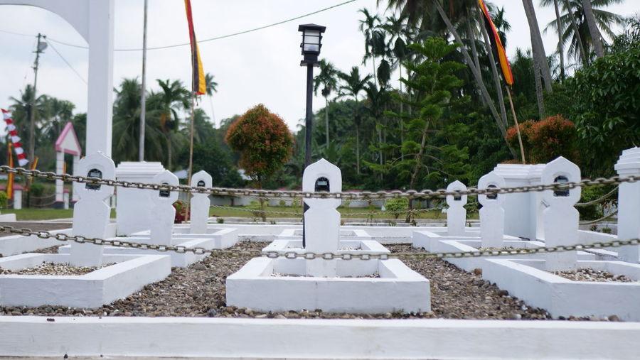 White temple against sky