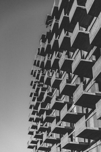 Built Structure Architecture Building Exterior Low Angle View No People Building City Pattern Modern Abandoned Abandoned Places Concrete Futuristic Balconies Blackandwhite Exterior Facades