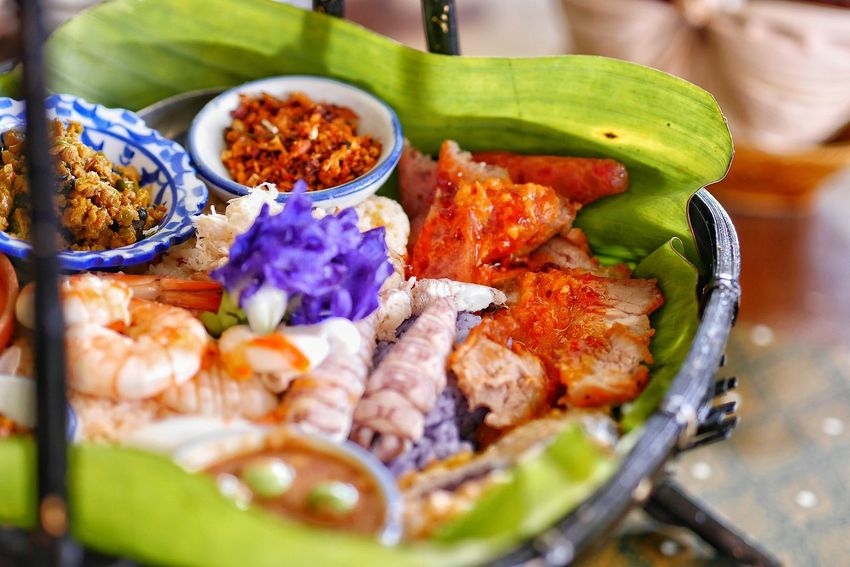 Food Food And Drink Selective Focus Freshness Healthy Eating No People Indoors  Close-up Ready-to-eat Day Thailand Photos Lifestyles Travel Thailand EyeEm ThaiFood EyeEm Thailand Thaifood Vegetarian Food