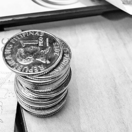 Excess. Finance Coin Currency Financial Item High Angle View Close-up Random Randomness Mobilephotography Iphone6sphotography IPhoneography Random Photography Iphonephotography Eyeem Philippines Randomshot Nonsense Random Shots Object Photography Black And White Photography Blackandwhite Black And White Nonsense Photography