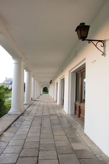 Architectural Column Architecture Building Built Structure Ceiling Column Corridor Day Diminishing Perspective Empty In A Row Long Narrow No People Russia Sky Suzdal The Way Forward Vanishing Point Walkway