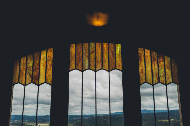 Architectural Column Architecture Built Structure Close-up Day Indoors  Landscape Nature No People Sky Stain Glass Water