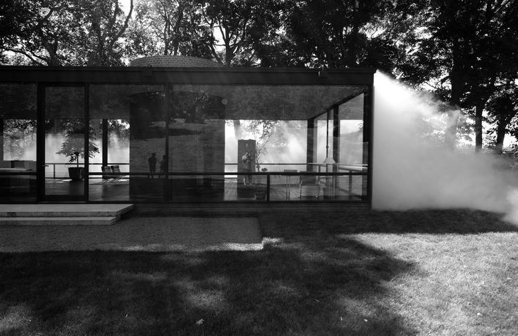 Philip Johnson's Glass House in New Canaan, Connecticut Architectural Column Architecture Architecture Building Built Structure City Day Empty Glass House Grass Growth Mid Century Architecture Mid Century Modern Modern Architecture Modernist Architecture Nature No People Outdoors Philip Johnson Sky Tree