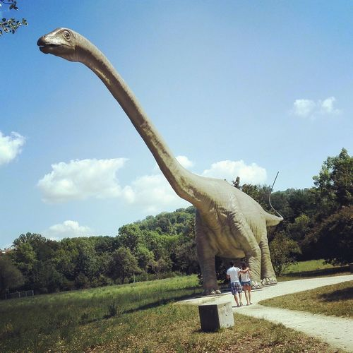 Dinosaur Dino Relaxing Park Sumertime Basel Basel, Switzerland Mypictures Traveling
