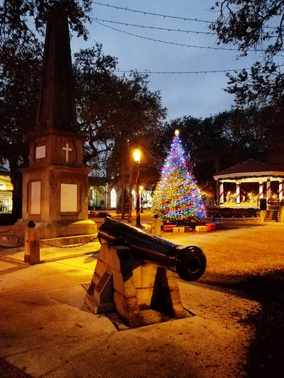 Dawn Collection Cannon Public Square Christmas Tree Tree Built Structure Night Architecture Christmas Decoration Building Exterior Outdoors