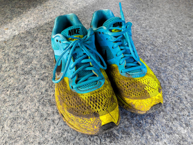AfterRun Blue Close-up Creativity Dirty Dirtyshoes Footwear Multi Colored Nike Nike✔ No People Pair Pegasus Run Running Shoe Shoelace Still Life Yellow