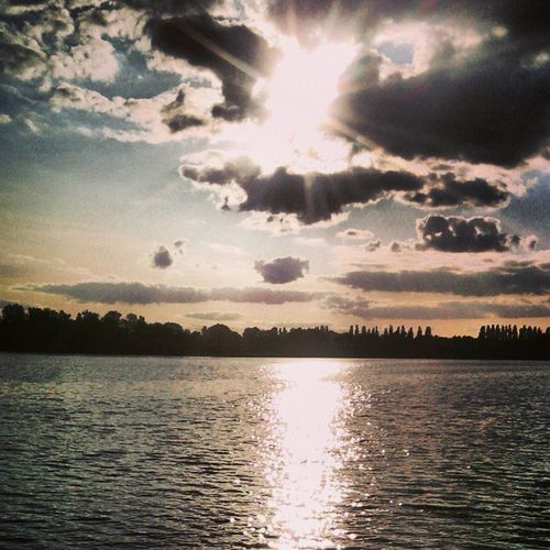 Lake Sky And Clouds Sunset Poland