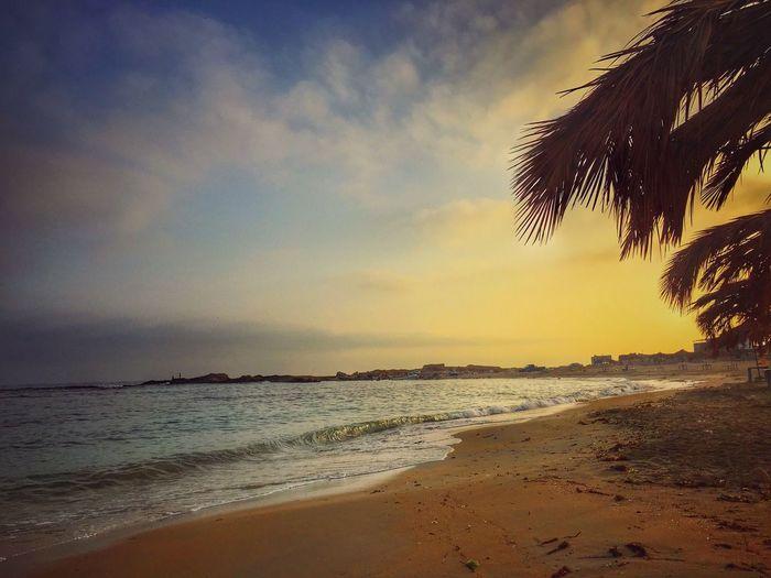 Beachphotography Sunrise_sunsets_aroundworld Tripoli Beach 😍 That's Me Cheese! Enjoying Life 6:00AM Taking Photos EyeEm Nature Lover The Photojournalist - 2016 EyeEm Awards EyeEm Best Shots NiceShot Enjoying The View Lovely Weather Ebeshti Hello World Relaxing