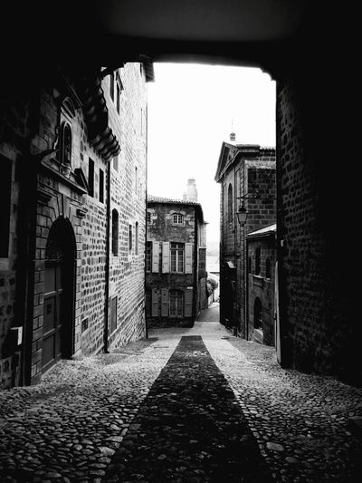 Architecture Built Structure No People Day Building Exterior Outdoors Sky France Vienne Rhône Stone Ancient Old Old Building Detail Stone Buildings Old City Streets Old City Street Black And White Black And White Friday